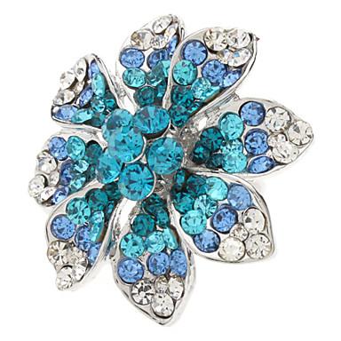 çiçek deseni metal tam mücevherli ayarlanabilir bileziği