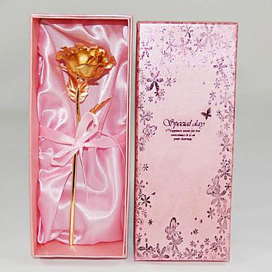 발렌타인데이, 결혼식, 생일, 크리스마스 선물로 매우 적합한 24K 골드 포일 로즈 (사이즈 조절가능)