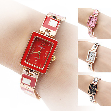 Women's Alloy Analog Quartz Bracelet Watch (Gold) Cool Watches Unique Watches Strap Watch