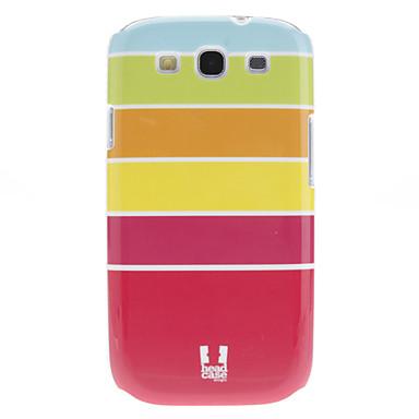Fashional projeto da listra Pattern Caso de alta qualidade rígido para Galaxy S3 I9300