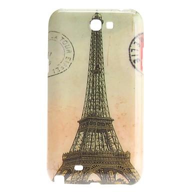 Retro Design French Eiffel Tower Pattern Hard Case for Samsung Galaxy Note 2 N7100