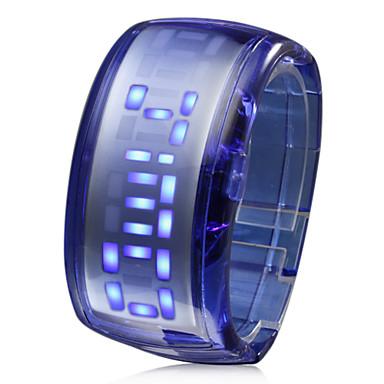 Blaue LED Armbanduhr  im futuristischen Design (Dunkelblau)