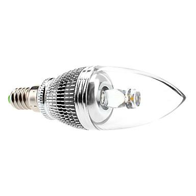 E14 3 W 1 High Power LED 240 LM Warm White C35 Candle Bulbs AC 85-265 V