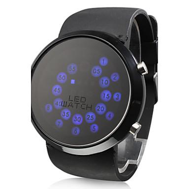 Мужской Наручные часы Цифровой LED силиконовый Группа Черный