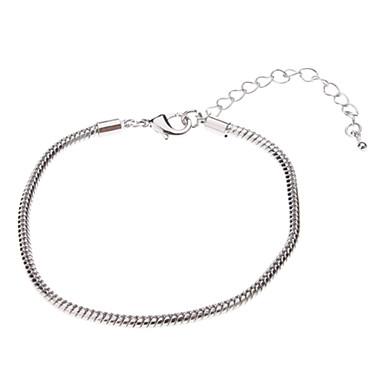 Simple Style Snakelike Shape Silver Bracelet