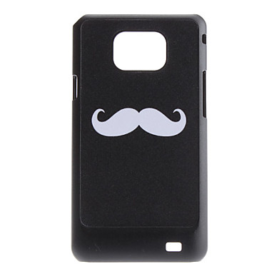 Flash Design Cool Mustache Pattern Hard Case for Samsung Galaxy S2 I9100