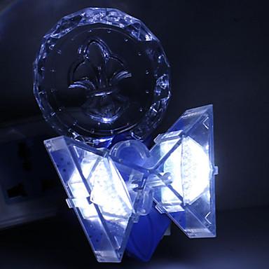 3W Colorful Crystal Flower Pattern 2 Lighting Modes LED Night Light (220V)