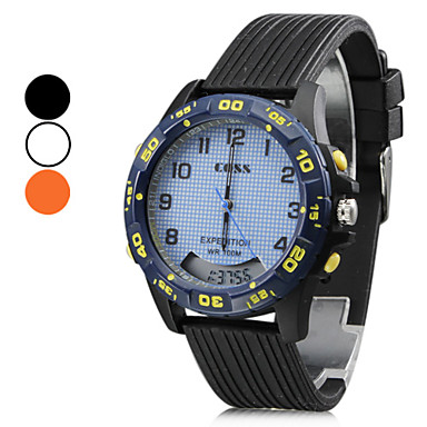 Unisex's Multi-Functional Style Silicone Automatic Analog-Digital Wrist Watch (Assorted Colors)