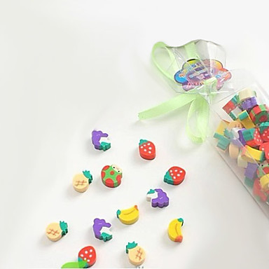 Colorful Fruit Shaped Small Eraser(50PCS)