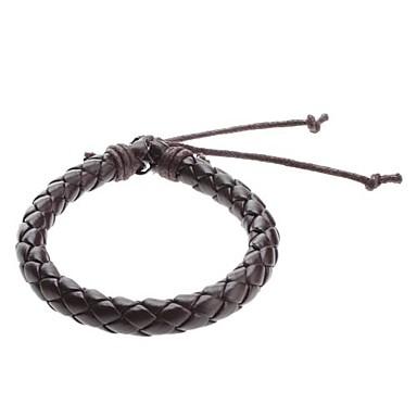Men's Chain Bracelet / Leather Bracelet - Leather Unique Design, Fashion Bracelet Black / Brown For Sports