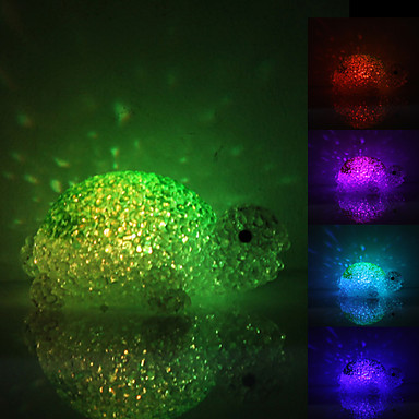 Cute Tortoise Shaped Colorful Light Crystal LED Night Lamp (3xLR44)