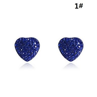 Lureme®Imitation Rhodium Heart Shape Crystal Earring