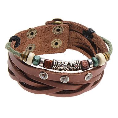 Armbänder Bettelarmbänder / Lederarmbänder Krystall / Aleación / Leder Sport Schmuck Geschenk Braun,1 Stück