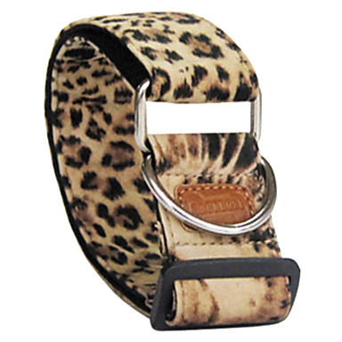Adjustable Leopard Printing Flocking Collar for Dogs (3.8 x 60cm)