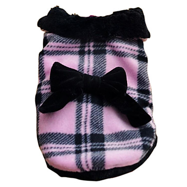 England Style Bowknot Thickened Jacket for Dogs (XS-XL)