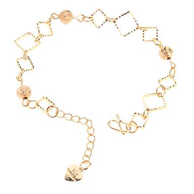 mat cila boncuk kare altın kaplama bracelace