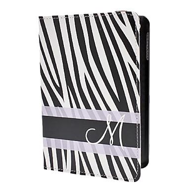 zebra-streep patroon pu lederen case w / stand voor iPad mini 3, ipad mini 2, ipad mini