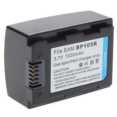 digital video batteri erstatter samsung bp105r til Samsung HMX-F80 HMX-F800 og mer (3.7V, 1030 mAh)