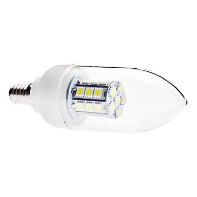 E14 5 W 27 SMD 5050 400 LM Natural White C35 Decorative Candle Bulbs AC 110-130 / AC 220-240 V
