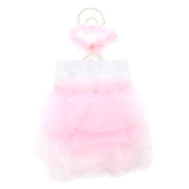 exquisite Perle und Spitzenkragen rosa Hochzeitskleid für Hunde