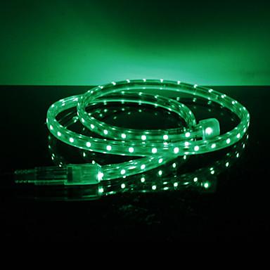 Waterproof 3.5W / M 3528 SMD Green Light LED Strip Lamp (220V, lengte instelbaar)