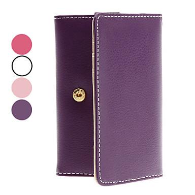 PU Leather Case avec fente pour carte pour l'iPhone 4 et iTouch
