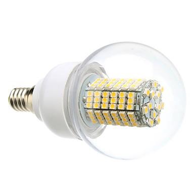 daiwl e14 8w 138x3528smd 620lm 3000-3500k ciepłe białe światło Żarówka LED kulowy (220v)