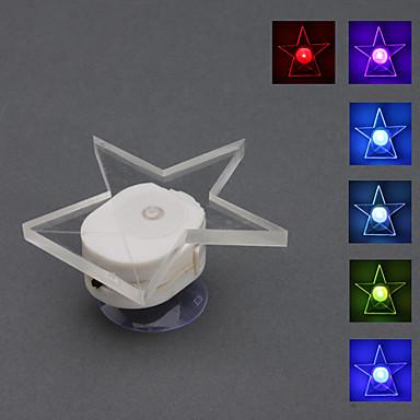 vantuz ile yıldız tarzı renk değiştiren gece lambası