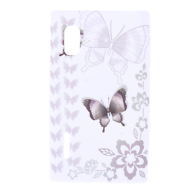 Butterfly Pattern Soft Case for LG Optimus L5 E612