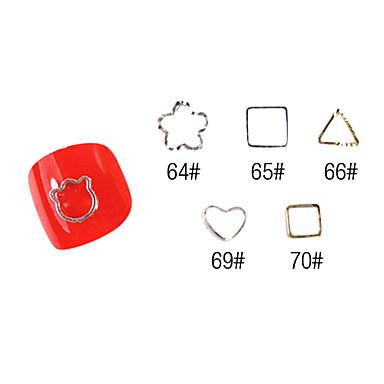 YeManNvYou®20PCS 3D Alloy Finger Nail Decorations Cellphone Beautify No.67-71 (Assorted Color)