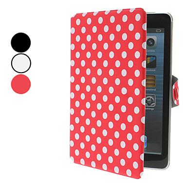 Elegant Design Dots patroon pu lederen tas met standaard voor iPad mini (verschillende kleuren)