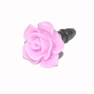 Rose 3,5 mm plástico anti-polvo para auriculares Jack para iPhone y iPad
