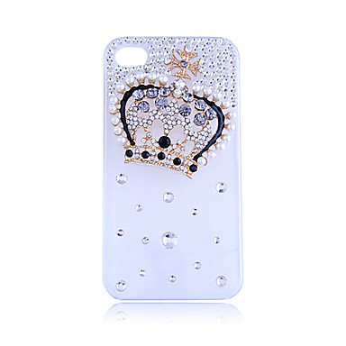 Zircon Royal Crown Pattern Hard Case for iPhone 4/4S