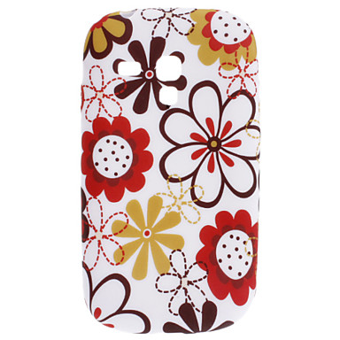 Lovely Flower Pattern TPU Soft Case for Samsung Galaxy S3 Mini I8910