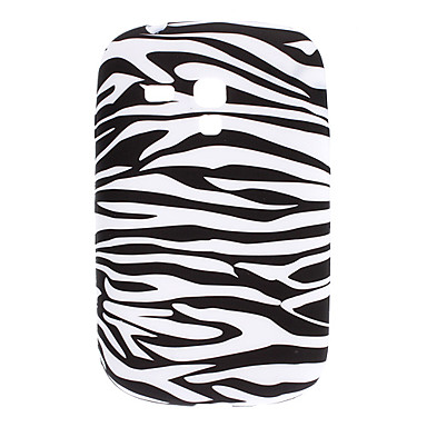 Zebra-listra padrão TPU macio para Samsung Galaxy S3 Mini I8910