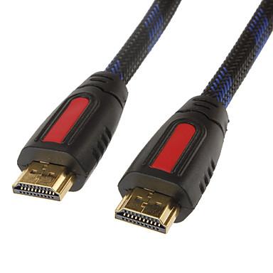 Akıllı LED HDTV, APPLE TV, PS3, XBOX360, Blu-ray (0,5 m, Sarı ve Siyah) için HDMI Kablosu