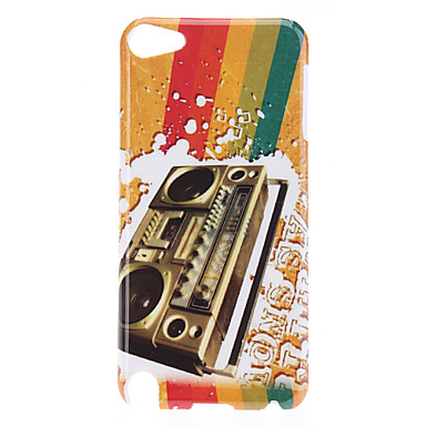 Retro Style Recorder Pattern Protective Hard Case for iPod Touch 5