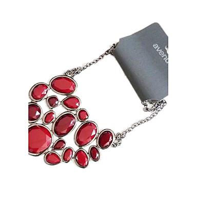 불규칙한 컷 다이아몬드 합금 목걸이 (모듬 색상)