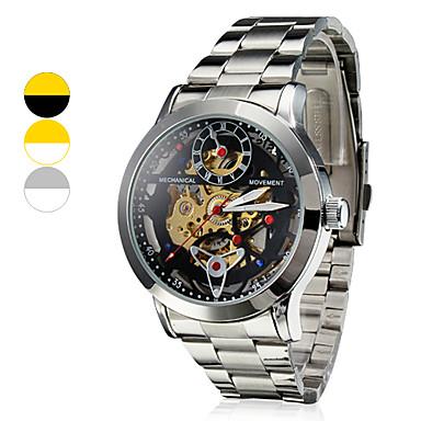 Resistente à água Estilo Aço analógico relógio de pulso mecânico dos homens (cores sortidas)