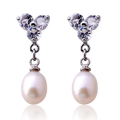 Dames Druppel oorbellen Parel Kristal Imitatieparel Verzilverd Roze parel Sieraden Voor Feest Dagelijks Causaal