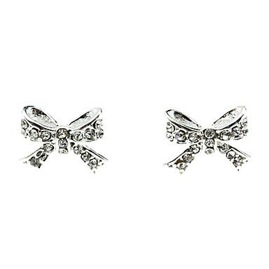 Sweet Bowknot Diamond Earrings
