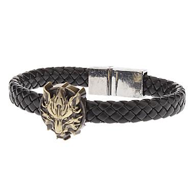 Men's Chain Bracelet Leather Bracelet Leather Alloy Jewelry Party