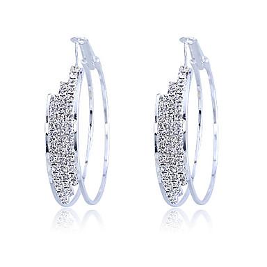 Ring oorbellen Kristal Verzilverd Zilver Sieraden Voor Feest Dagelijks Causaal 2 stuks