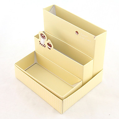 Three Layers of Desktop Paper Organizers Boxes(Random Colors)