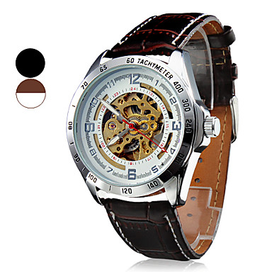 SHENHUA® Men's Wrist Style Water Resistant Mechanical Analog PU Watch (Assorted Colors) Cool Watch Unique Watch