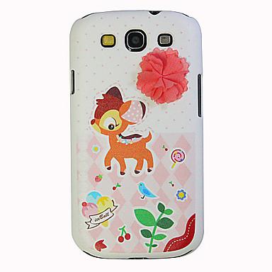Fabrics Deer Pattern  Hard Case for Samsung I9300