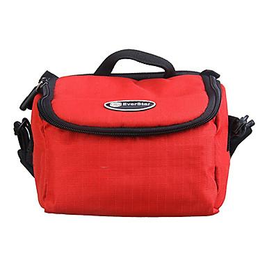 dijital fotoğraf makinesi büyük boy için yırtılmaz polyester yastıklı yumuşak koruyucu taşıma çantası durumda - kırmızı