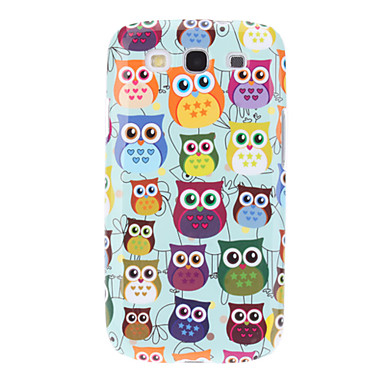 For Samsung Galaxy etui Etuier IMD Mønster Bagcover Etui Ugle PC for Samsung S3