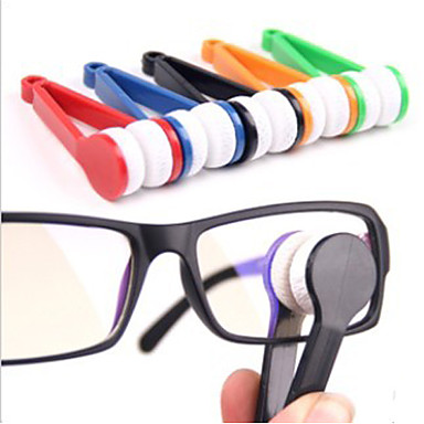 Mini Microfiber Glasses Cleaner Eyeglasses Cleaner Cleaning Clip Soft Brush Cleaning Tool Portable