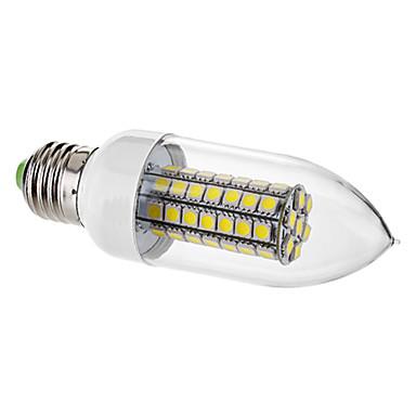 7W E26/E27 LED Candle Lights C35 63 SMD 5050 650 lm Natural White Decorative AC 220-240 V